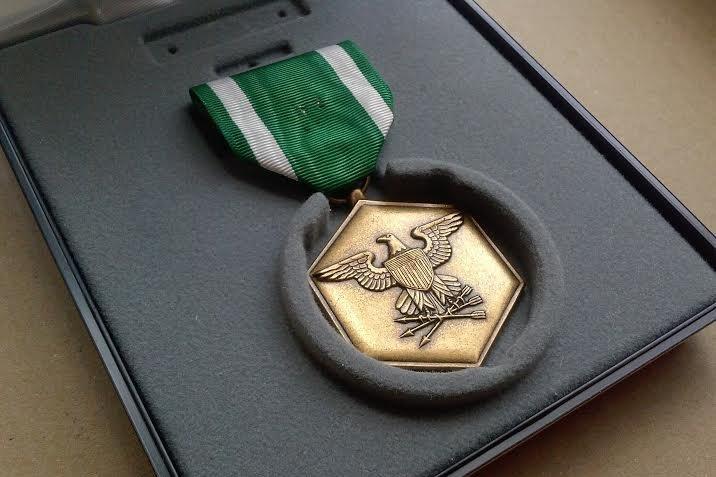 wearing medals is free speech