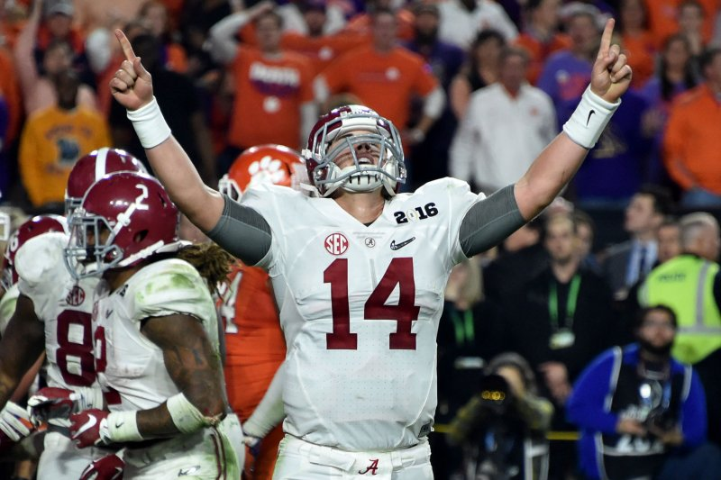 what is the over under for alabama clemson