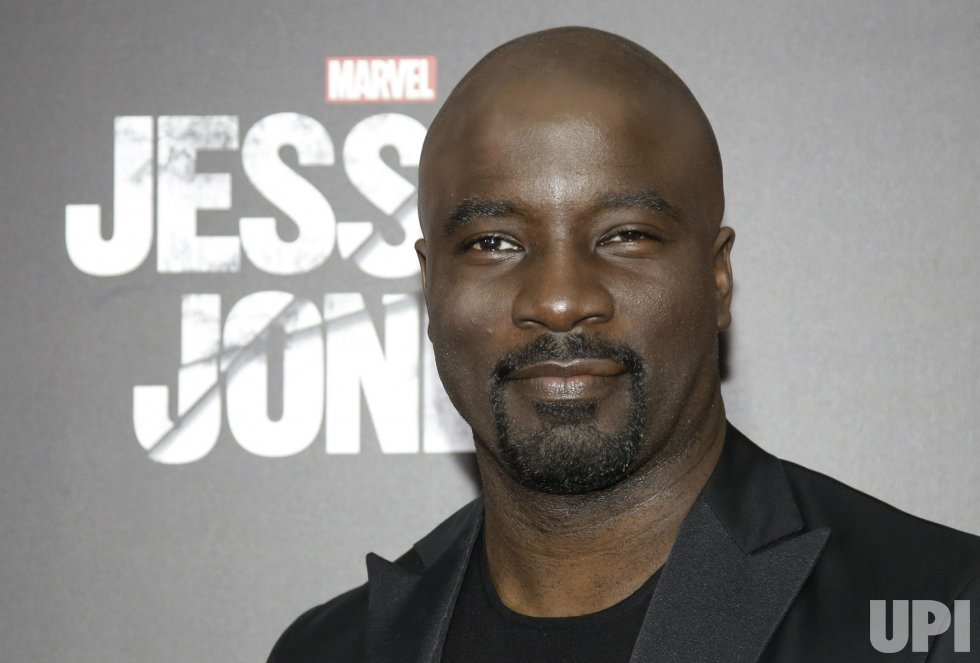 Mike Colter arrives at Jessica Jones premiere