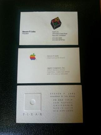 Steve Jobs business cards