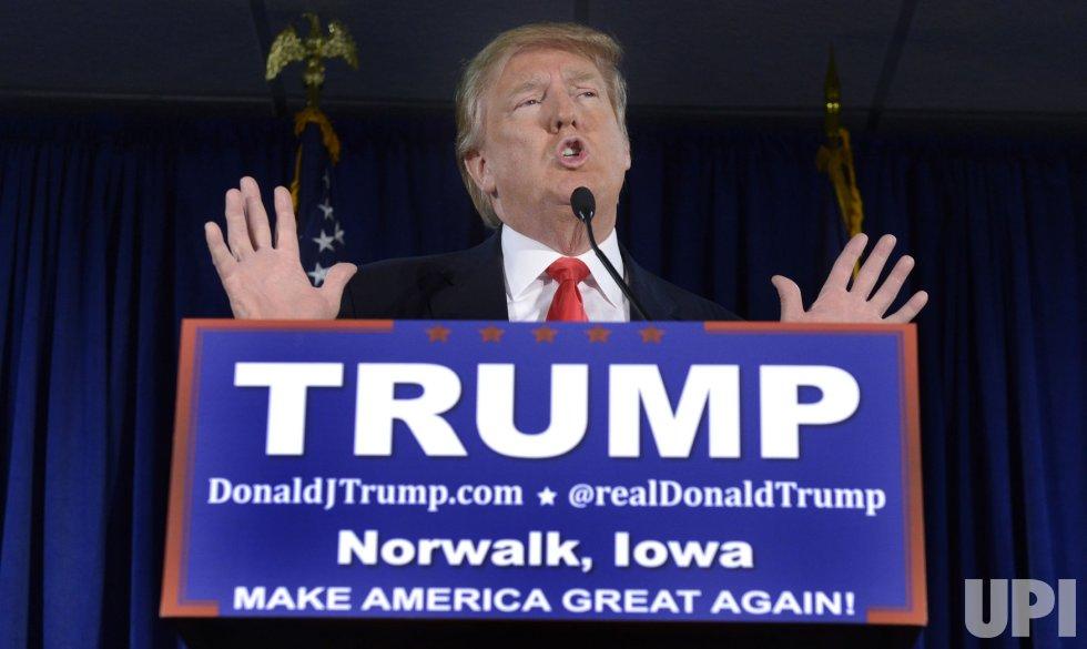 Donald Trump attends campaign event in Norwalk, Iowa