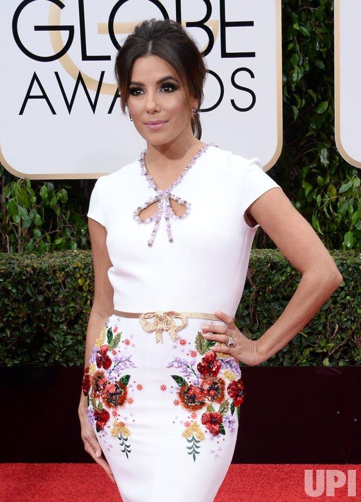 Eva Longoria attends the 73rd annual Golden Globe Awards