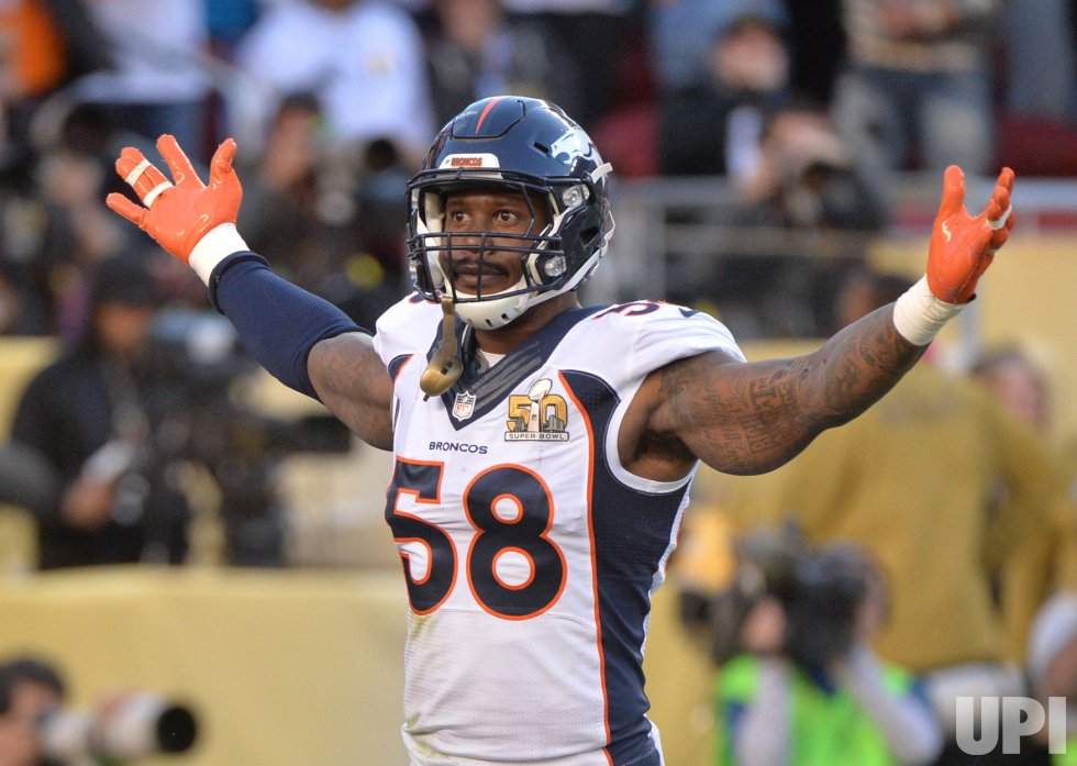 Broncos Von Miller forces Panthers Newton to fumble