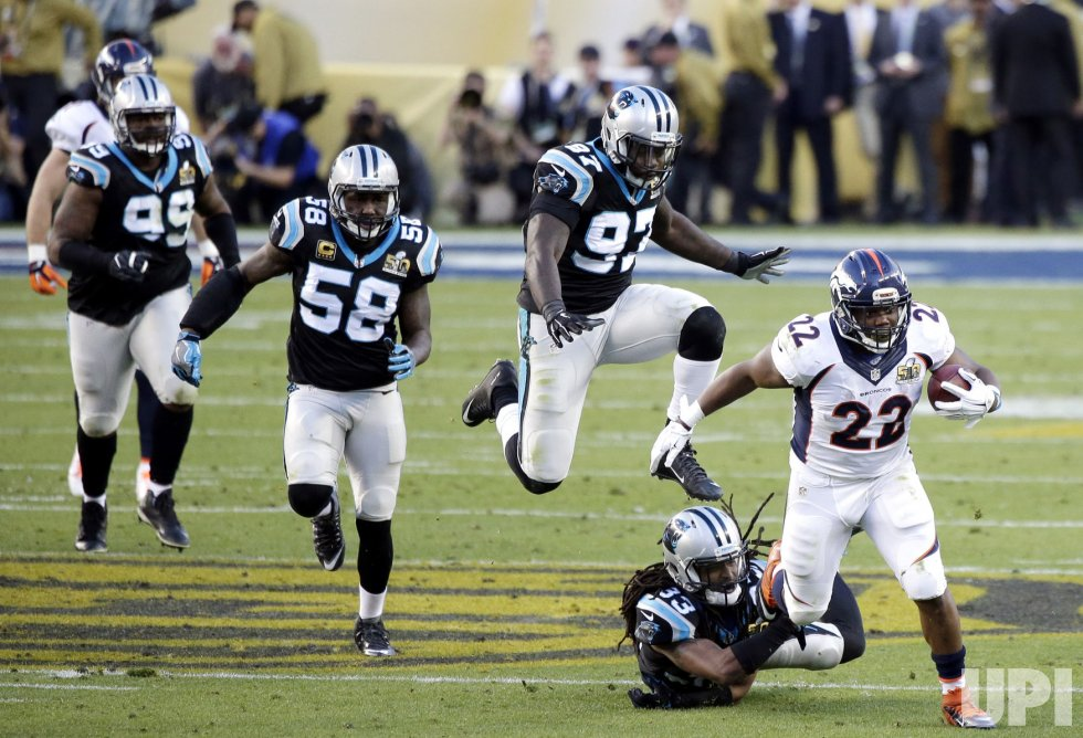 Denver Broncos C.J.Anderson runs in the second quarter