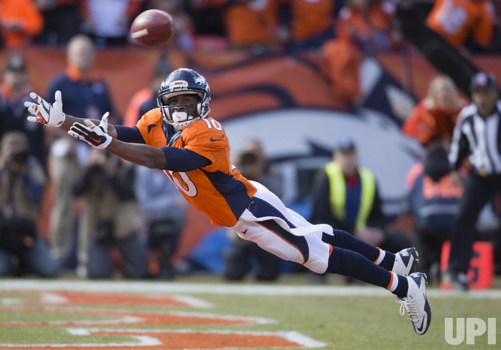 Broncos Sanders misses TD pass during the 2016 AFC Championship game in Denver