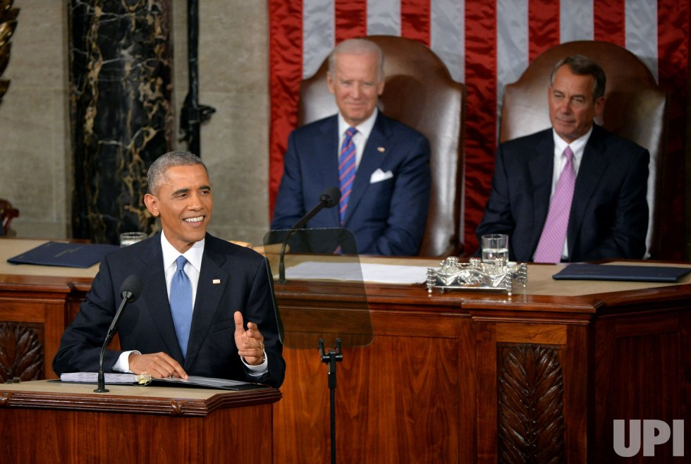 President Obama Delivers the State of the Union in Washington, D.C.