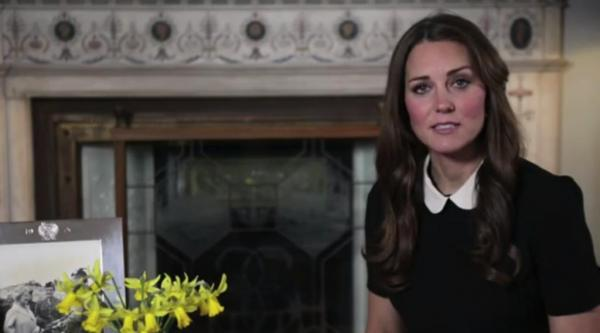 Kate Middleton appears in first-ever recorded message