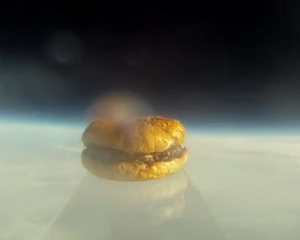 Hamburger takes balloon ride into space
