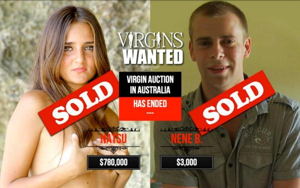 Woman auctions virginity for $780,000