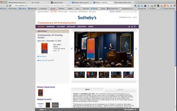 Mark Rothko painting sold for $75M at N.Y. auction