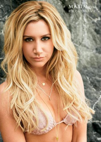 [PHOTO] Ashley Tisdale goes topless for Maxim