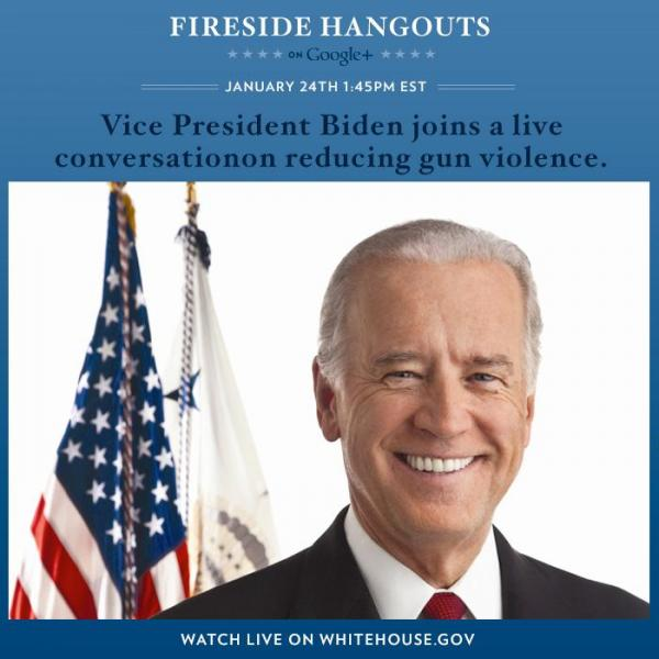 WATCH LIVE: Hangout with VP Joe Biden for gun violence conversation (1:45 p.m. ET)