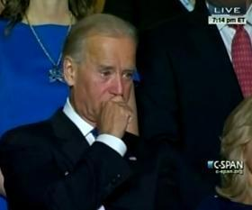 Watch Joe Biden cry when his son nominates him for VP