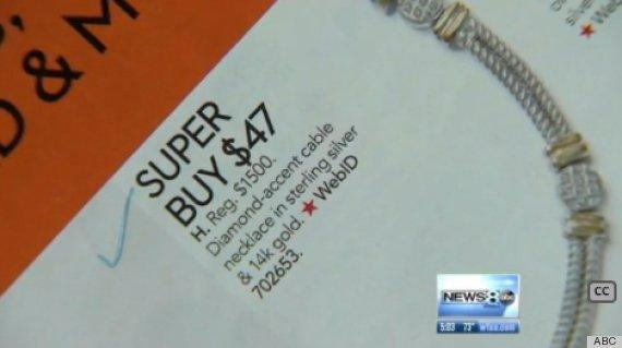 Macy's catalog typo marks $1500 necklace at $47