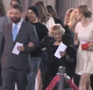 Zach Galifianakis takes former homeless woman, 87, to 'Hangover III' premiere