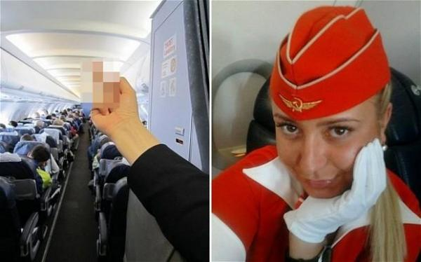 Flight attendant fired for finger: Aeroflot employee sacked after middle finger photo goes viral