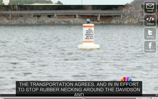 Boats restricted to stop highway flashing