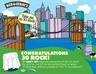 Ben & Jerry's announces '30 Rock' ice cream flavor