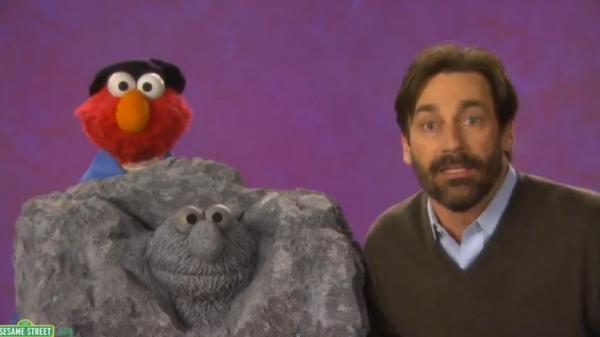 [VIDEO] Jon Hamm visits Sesame Street, teaches Elmo about sculptures