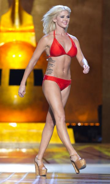 Miss America contestant first to let her tattoos show