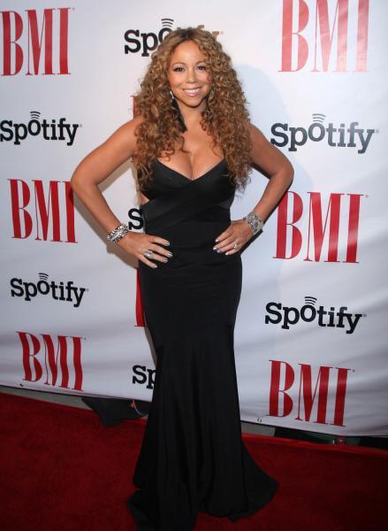 Mariah Carey suffers wardrobe malfunction with strapless dress 'nip slip'