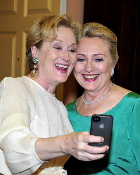 Meryl donated that cell phone snap to charity
