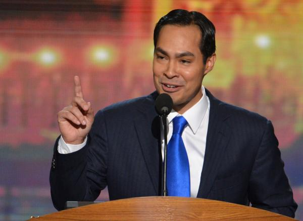 Julian Castro's daughter flips her hair back and forth, steals show