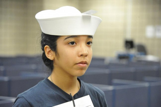 Female navy recruits get same hats as men