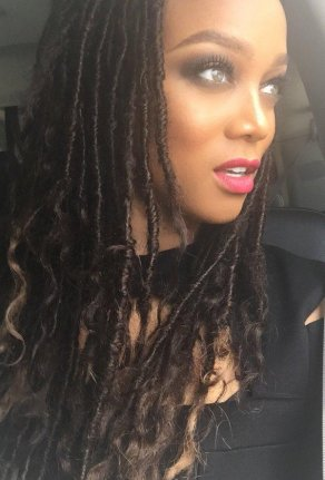 Tyra Banks wore dreadlocks to the Simply Stylist conference over the  weekend. Photo by Tyra Banks Twitter 2640bef8e