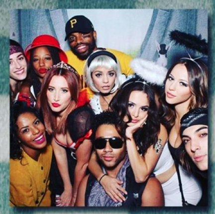 ashley tisdale and vanessa hudgens reunited with fellow high school musical co stars corbin bleu and monique coleman at a halloween party saturday - Ashley Tisdale Halloween
