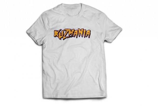 Los Angeles Lakers rookie Kyle Kuzma is now selling  Kuzmania  shirts on  his website. Photo courtesy of Kyle Kuzma s official website. b3d1dbca6