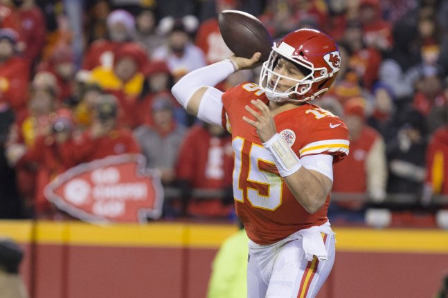 b31658367 Kansas City Chiefs quarterback Patrick Mahomes is expected to win the NFL's  MVP award on Saturday in Atlanta. Photo by Kyle Rivas/UPI