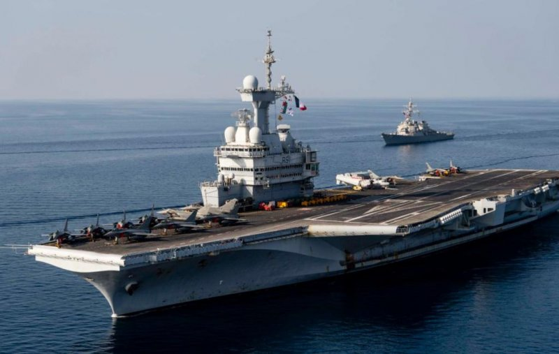 USS Donald Cook joins French carrier strike group in NATO exercise