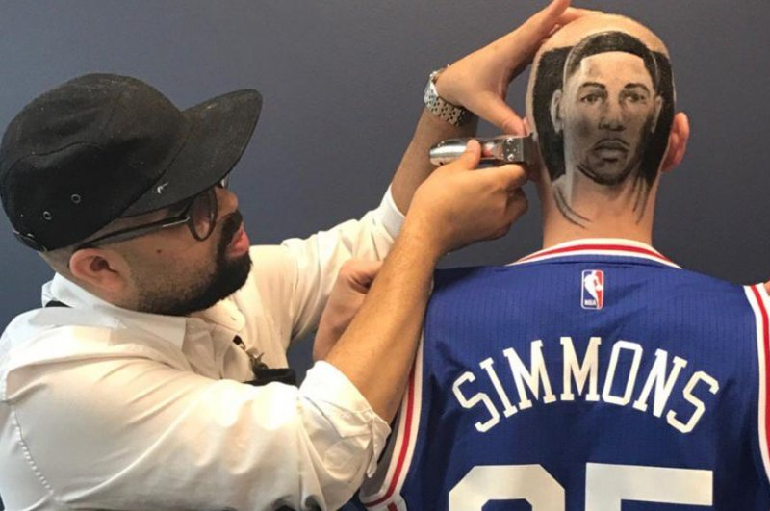Philadelphia 76ers Fan Gets Fresh Ben Simmons Haircut Upi