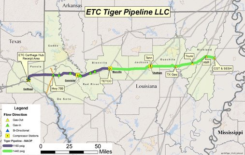 U.S. Tiger gas pipeline gets FERC approval