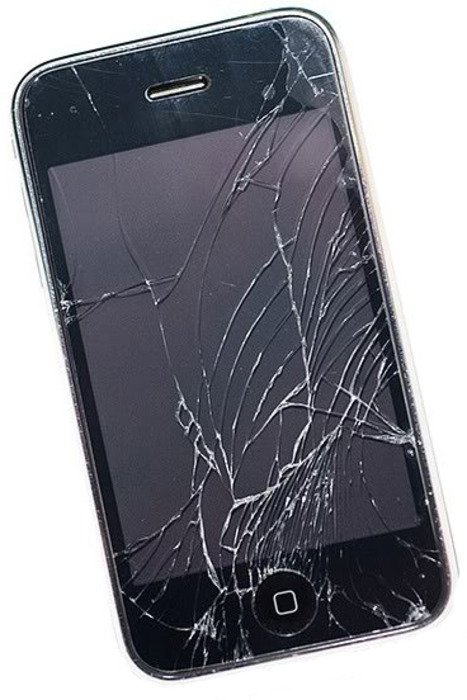 picture of cracked phone screen
