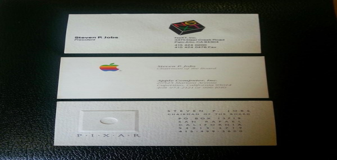 Man spends 10k on 3 of steve jobs39 past business cards for Steve jobs business card