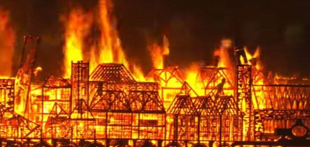 Great Fire Of London Marked With Replica Blaze Upi Com