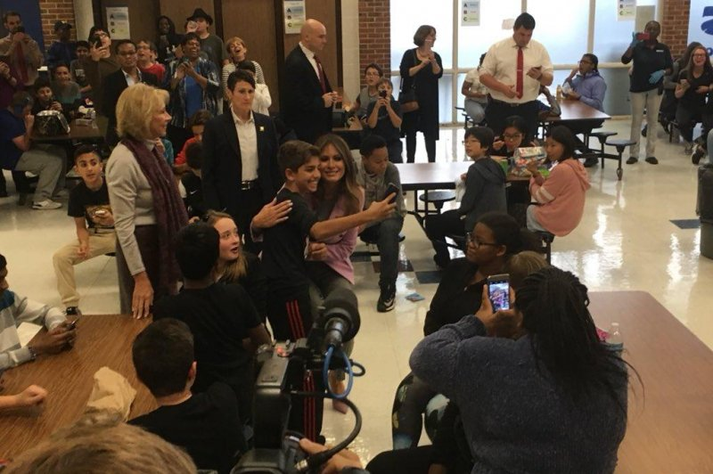 Melania Trump makes surprise visit to Detroit school - UPI.com Stephanie Grisham