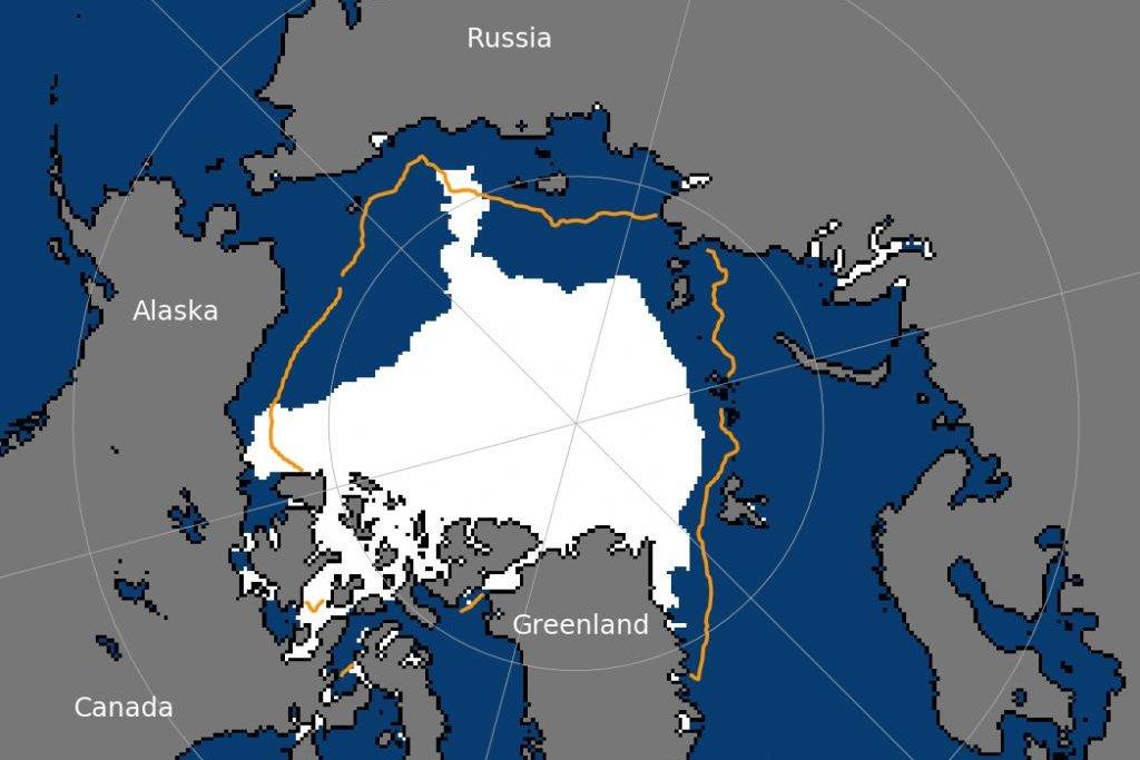 Arctic sea ice shrunk to sixth lowest summertime minimum ...