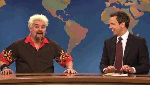saturday night live mocks guy fieri new york times review