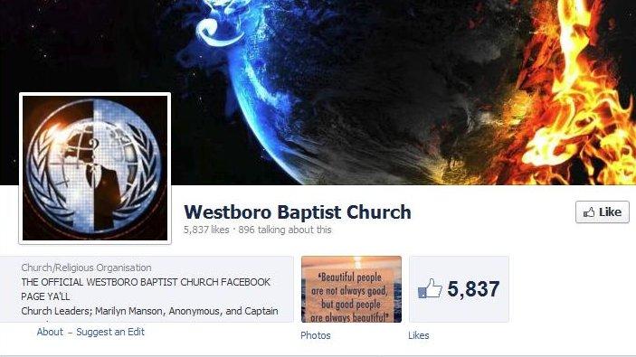 westboro facebook site hacked   upi
