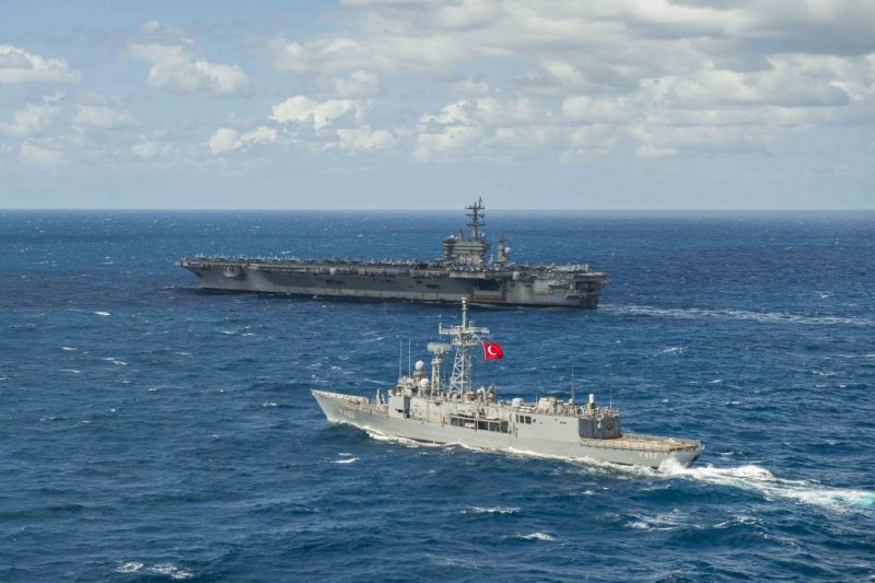 Eisenhower Strike Group conducts joint exercise with Turkish Navy.