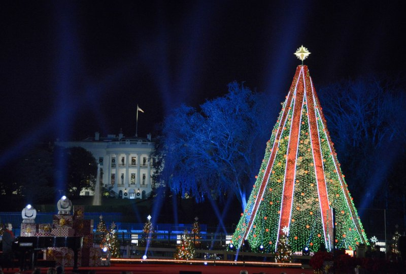National Christmas Tree Lighting.Donald Trump Melania Trump Participate In National