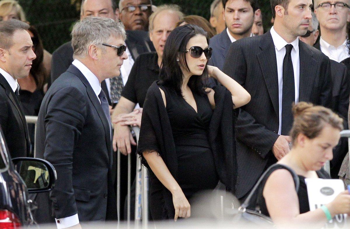 update  hilaria baldwin left gandolfini u0026 39 s funeral early