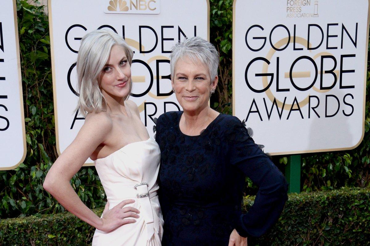 Jamie Lee Curtis Brings Daughter To Golden Globe Awards