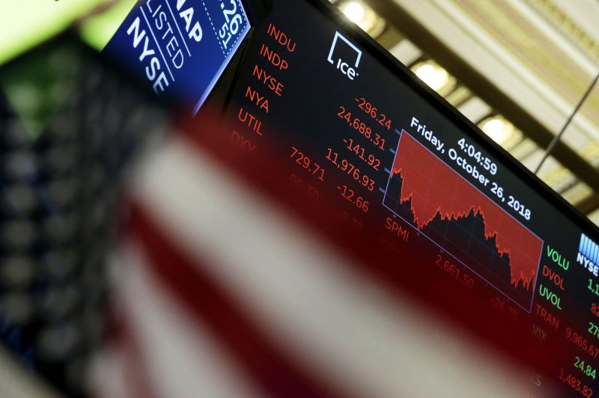Sliding tech stocks pull Dow Jones down nearly 400 points
