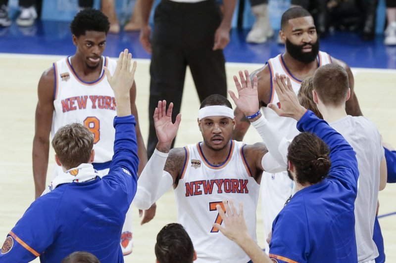 New York Knicks shopping Carmelo Anthony to Clippers, Cavaliers, Celtics