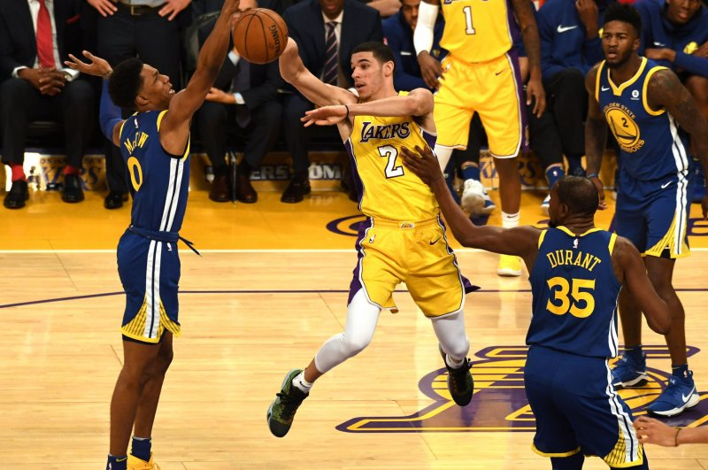 6d12f554e6c9 Golden State Warriors edge Los Angeles Lakers in OT for 9th win in row -  UPI.com