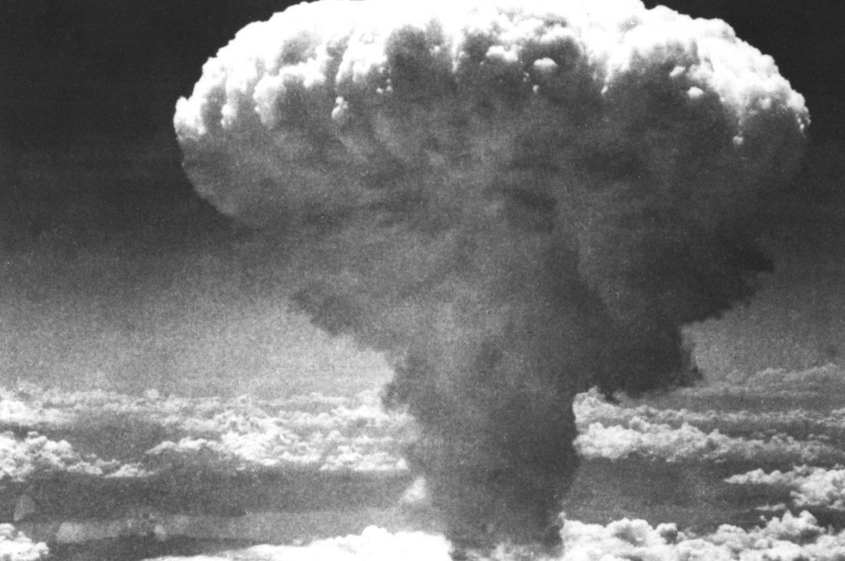U.S. drops atomic bomb on Nagasaki